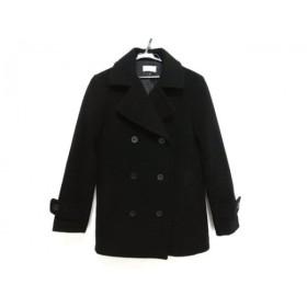 【中古】 プラステ PLS+T(PLST) コート サイズM レディース 黒 冬物 毛ナイロンポリエステル