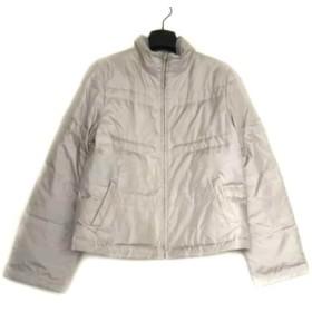 【中古】 ジユウク ダウンジャケット サイズ40 M レディース ライトグレー リバーシブル/冬物