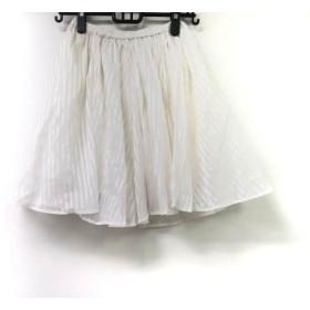 【中古】 フレイアイディー FRAY I.D スカート サイズ0 XS レディース アイボリー ストライプ