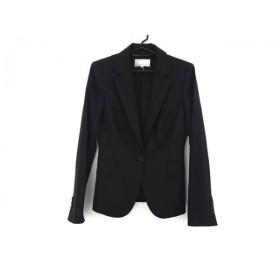 【中古】 エムプルミエ M-PREMIER ジャケット サイズ36 S レディース 黒