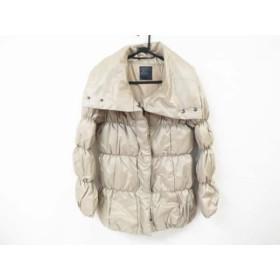 【中古】 マウジー moussy ダウンジャケット サイズ2 M レディース ベージュ 冬物