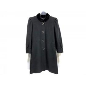【中古】 レリアン Leilian コート サイズ9 M レディース 黒 冬物