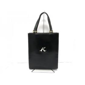 【中古】 キタムラ KITAMURA トートバッグ 黒 白 レザー