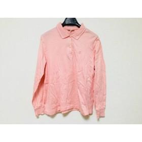【中古】 ダックス DAKS 長袖ポロシャツ サイズL レディース ピンク