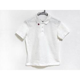 【中古】 ミエコウエサコ 半袖ポロシャツ サイズ40 M レディース 白 レッド 黒 テントウムシ