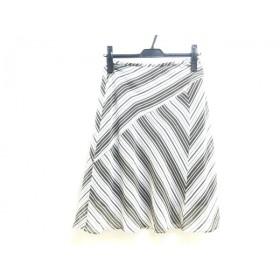 【中古】 アンタイトル UNTITLED スカート サイズM M レディース 白 ブラウン