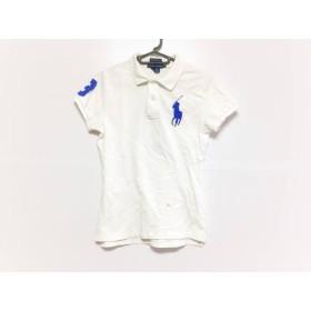 【中古】 ラルフローレン RalphLauren 半袖ポロシャツ サイズS レディース ビッグポニー 白 ブルー