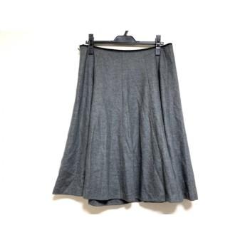 【中古】 ローズティアラ Rose Tiara スカート サイズ46 XL レディース 美品 ダークグレー