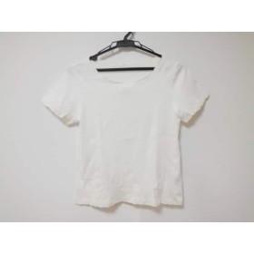 【中古】 アマカ AMACA 七分袖カットソー サイズ38 M レディース 白 刺繍
