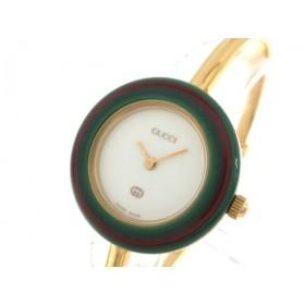 【中古】 グッチ GUCCI 腕時計 ベゼルウォッチ 43416 レディース 白