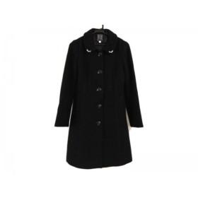 【中古】 シンシアローリー CYNTHIA ROWLEY コート サイズ2 S レディース 黒 冬物/ビジュー