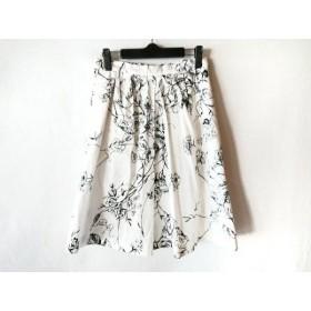 【中古】 マックスマーラスタジオ MAXMARA STUDIO スカート サイズ36 S レディース 白 黒 花柄