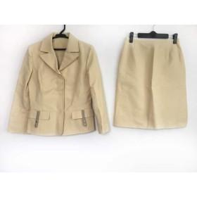 4181c09fc1b0 【中古】 ハロッズ HARRODS スカートスーツ サイズ2 M レディース アイボリー