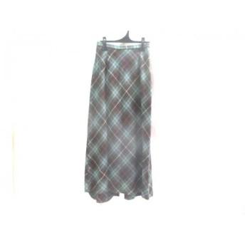 【中古】 ペンドルトン PENDLETON ロングスカート サイズ4 XL レディース ライトブルー ブラウン マルチ