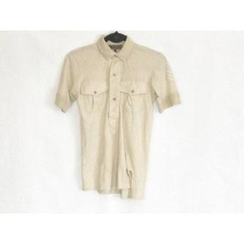 【中古】 ナイジェルケーボン NIGEL CABOURN 半袖ポロシャツ サイズ44 L メンズ ベージュ