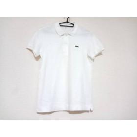 【中古】 ラコステ Lacoste 半袖ポロシャツ サイズ42 M メンズ 白