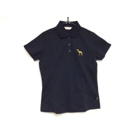 【中古】 アダバット Adabat 半袖ポロシャツ サイズ38 M レディース 黒