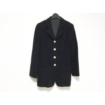 【中古】 バーバリーズ Burberry's コート サイズ9 M レディース 黒 冬物