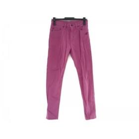 【中古】 ヒステリックグラマー HYSTERIC GLAMOUR パンツ サイズM レディース ピンク 黒 レッド 刺繍