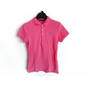 【中古】 ラルフローレン RalphLauren 半袖ポロシャツ サイズL レディース ピンク