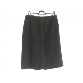 【中古】 フェンディ FENDI スカート サイズ40 M レディース ダークブラウン カシミヤ