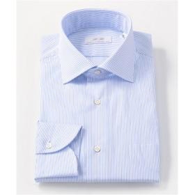 [シャツ]ダブルエイチ ドレスシャツ HH7A-W-016 サックス ストライプ 40-84