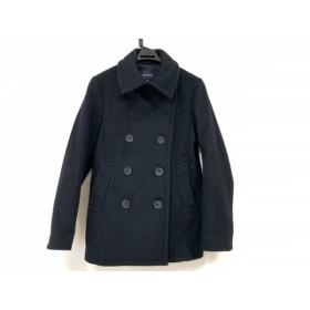 【中古】 マカフィ MACPHEE Pコート サイズ38 M レディース 黒 冬物