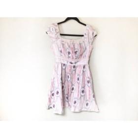 【中古】 シークレットハニー ワンピース サイズ2 M レディース 美品 アイボリー ピンク マルチ