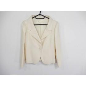 【中古】 バレンチノ VALENTINO ジャケット サイズ4 XL レディース 美品 アイボリー リボン
