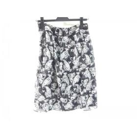 【中古】 アリスバーリー Aylesbury スカート サイズ9 M レディース ブラック マルチ