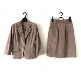 【中古】 ジャスグリッティー JUSGLITTY スカートスーツ サイズ2 M レディース ベージュ