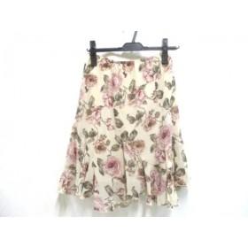 【中古】 レストローズ L'EST ROSE スカート サイズ2 M レディース アイボリ マルチ