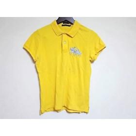 【中古】 ラルフローレン RalphLauren 半袖ポロシャツ サイズL レディース イエロー グレー