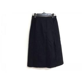 【中古】 バーバリーズ Burberry's 巻きスカート サイズM M レディース ダークネイビー