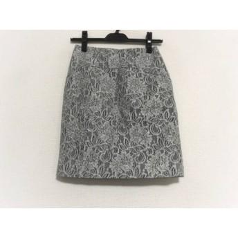 【中古】 ジャスグリッティー JUSGLITTY スカート サイズ0 XS レディース 美品 グレー 白