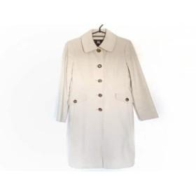 【中古】 バーバリーロンドン Burberry LONDON コート サイズ40 L レディース ベージュ 冬物