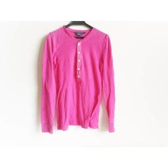 【中古】 ラルフローレン RalphLauren 長袖Tシャツ サイズXS レディース ピンク
