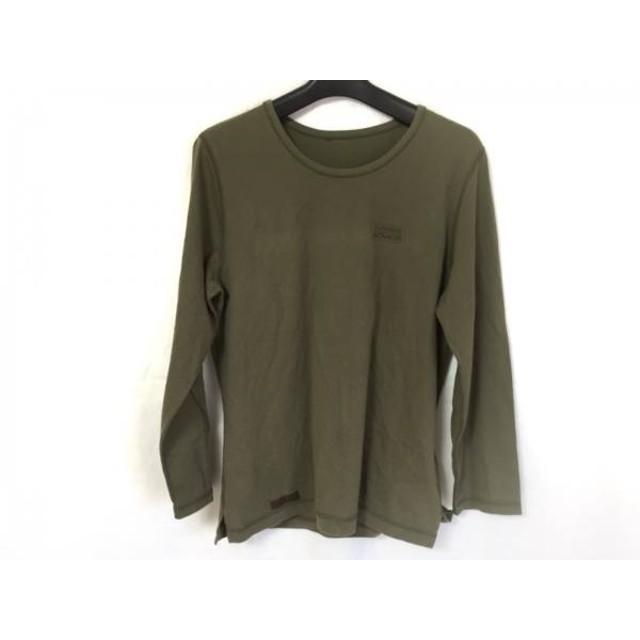 【中古】 マドモアゼルノンノン 長袖Tシャツ サイズL レディース 美品 ダークグリーン