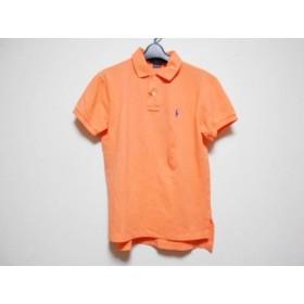【中古】 ポロラルフローレン 半袖ポロシャツ サイズM メンズ 美品 オレンジ CUSTOM FIT