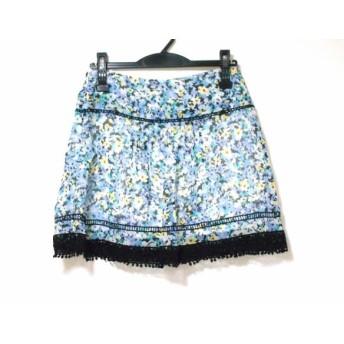 【中古】 アプワイザーリッシェ スカート サイズ2 M レディース パープル イエロー マルチ 花柄