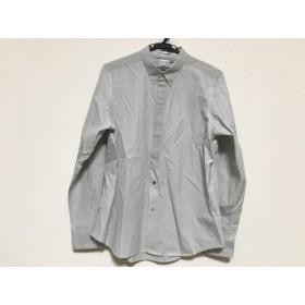 【中古】 ポールスミス PaulSmith 長袖シャツ サイズXL メンズ 白 ダークネイビー ストライプ