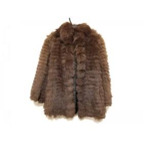 【中古】 サガフォックス SAGA FOX コート サイズ9 M レディース ブラウン ネーム刺繍/冬物