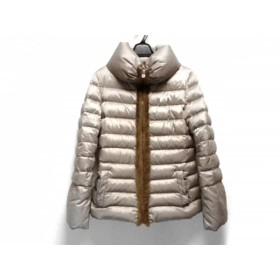 【中古】 ヴィオランティ ダウンコート サイズ44 L レディース ライトブラウン 冬物/ファー/ジップアップ