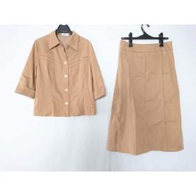 【中古】 ジユウク 自由区/jiyuku スカートセットアップ サイズ46 XL レディース ベージュ