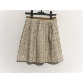 【中古】 アプワイザーリッシェ Apuweiser-riche スカート サイズ2 M レディース ベージュ ツイード/ラメ