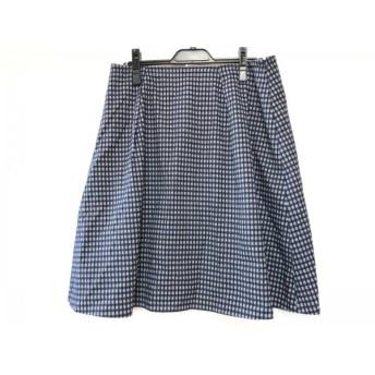 【中古】 ジユウク 自由区/jiyuku スカート サイズ46 XL レディース ネイビー 白