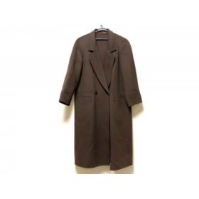 【中古】 バーバリーズ Burberry's コート レディース ダークブラウン 冬物
