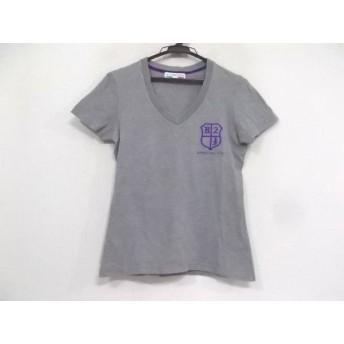 【中古】 ハイドロゲン HYDROGEN 半袖Tシャツ サイズM レディース 美品 グレー パープル
