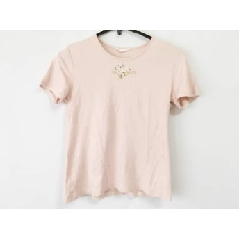 【中古】 ピンクハウス PINK HOUSE 半袖Tシャツ サイズL レディース ピンク マルチ