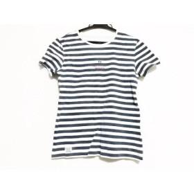 【中古】 マドモアゼルノンノン 半袖Tシャツ サイズ38M レディース 白 グレーネイビー ボーダー